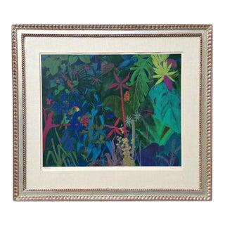 Framed Botanical Jungle Serigraph