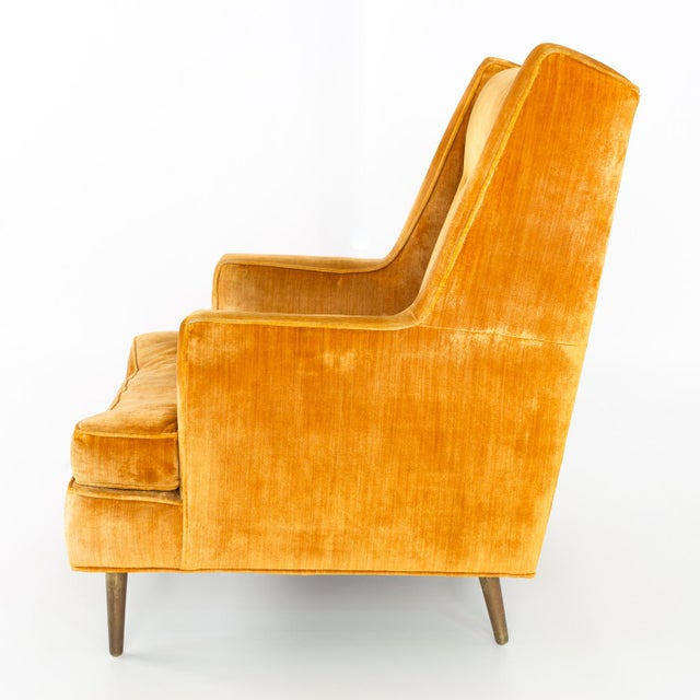 Mid Century Edward Wormley for Dunbar Chair and Ottoman For Sale - Image 10 of 13