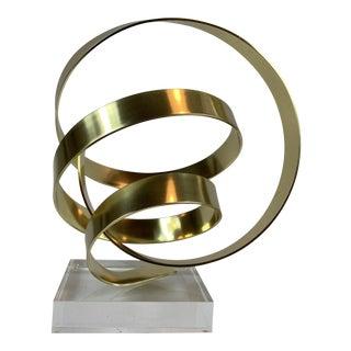 Aluminum Ribbon Sculpture by Dan Murphy For Sale