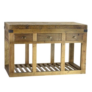 Reclaimed Elm Kitchen Island