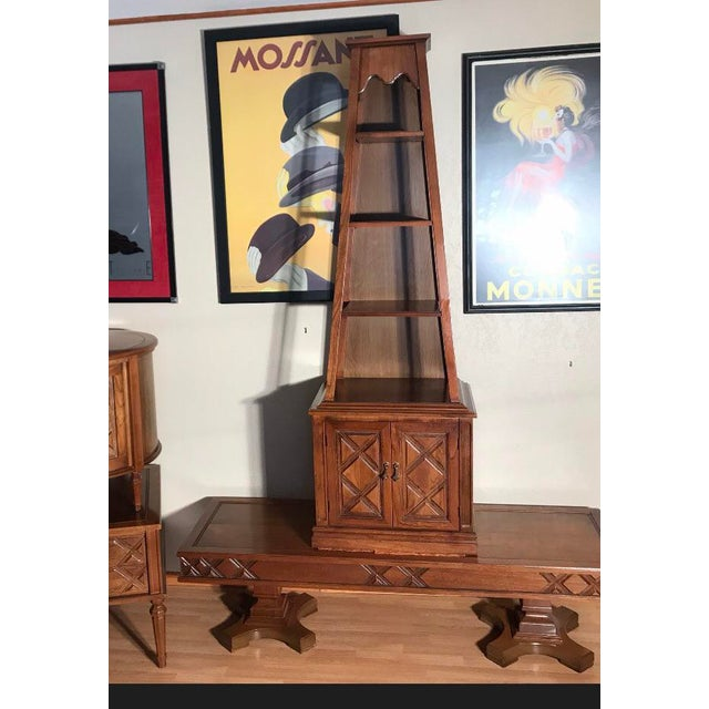 1950s Drexel Heritage A-Frame Shelf Tower Display Shelf For Sale - Image 5 of 5