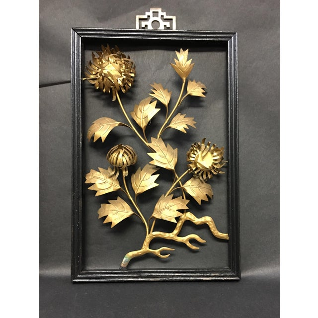Asian Brass Wall Hangings - Set of 4 For Sale - Image 4 of 9