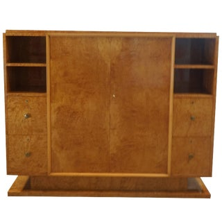 20th Century French Trulia Burl Wood Cabinet For Sale