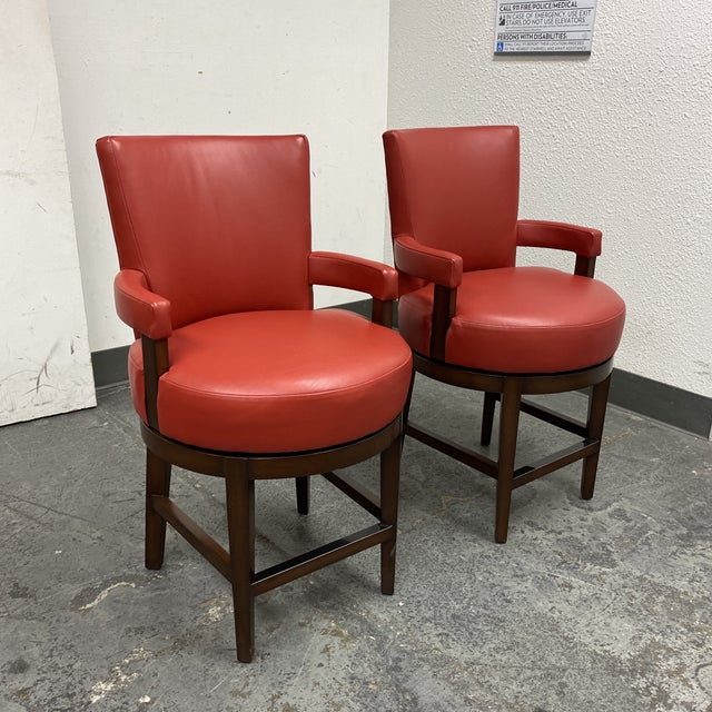 Contemporary Wheeler Design Group Counter Stools - a Pair For Sale - Image 3 of 12