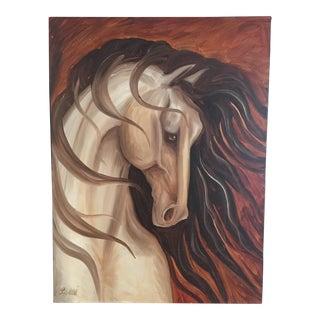 Original Leni Tarleton Equine Acrylic on Canvas