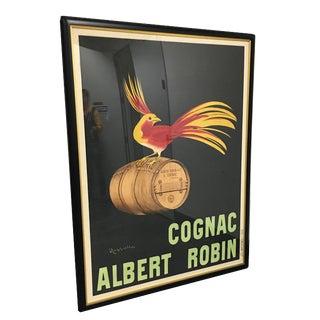 """Cognac Albert Robin"" Vintage Framed French Poster"