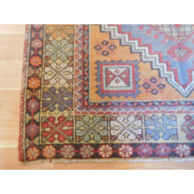"Vintage Turkish Oushak Rug - 3'9"" X 5'6"" - Image 3 of 5"