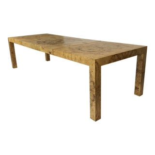 Olive Burl Dining Table Designed by Milo Baughman for Thayer Coggin For Sale