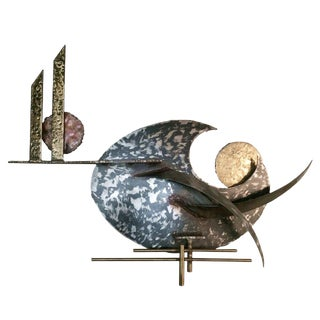 Large Mixed Metal Wall Sculpture by Silas Seandel For Sale