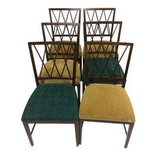 1950 Danish Ole Wanscher Dining Chairs in Tanned Beech - Set of Six For Sale