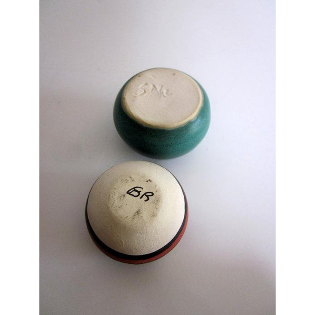 Vintage Mid Century Studio Pottery Pots - Set of 4 - Image 3 of 6