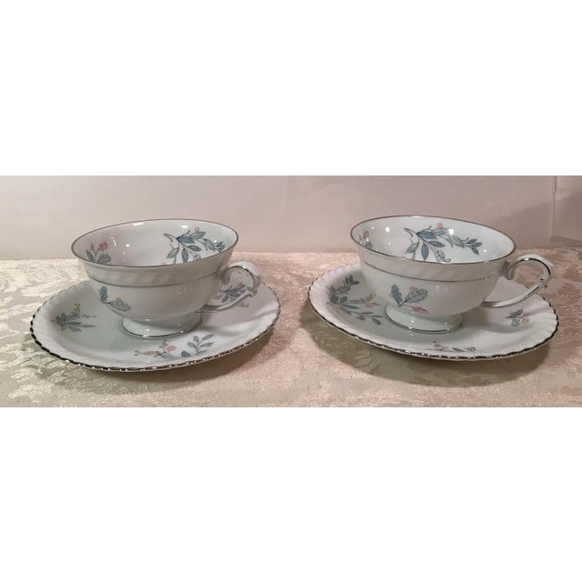 Mid-Century Modern Mid-Century Bavarian China Cups & Saucers For Sale - Image 3 of 11