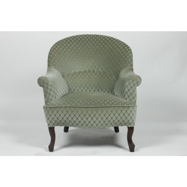 Green 1890s Victorian Ladies Slipper Chair For Sale - Image 8 of 8