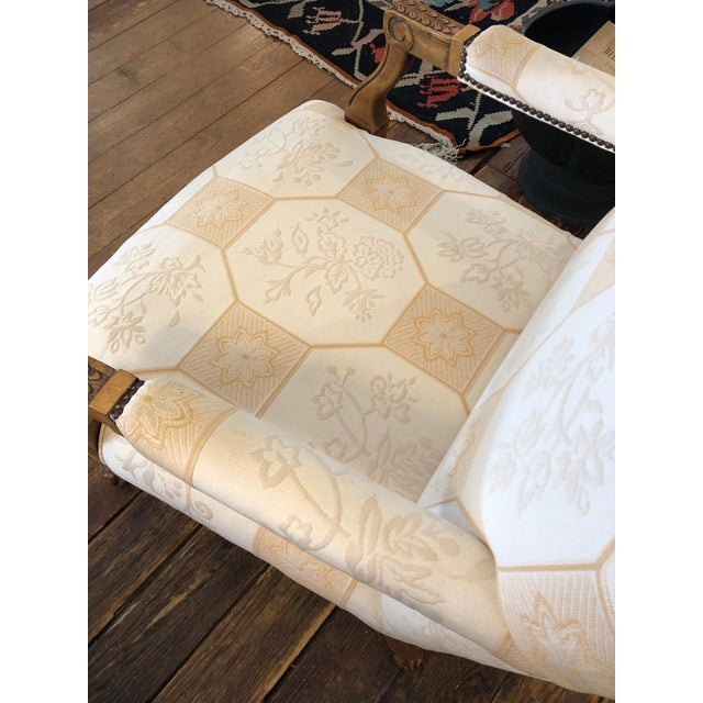 Tan Baker French Style Arm Chair For Sale - Image 8 of 11