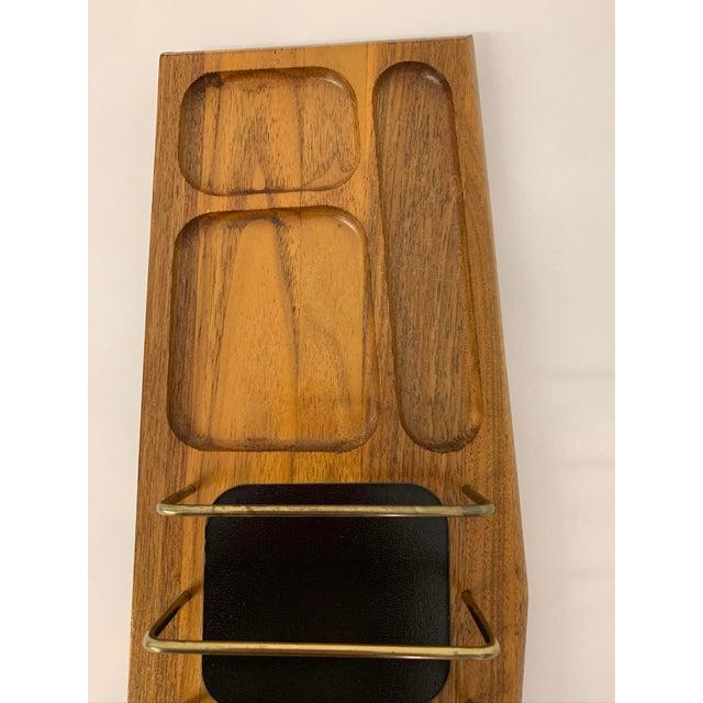 Mid-Century Modern Mid Century Modern Walnut Desk Organizer For Sale - Image 3 of 11