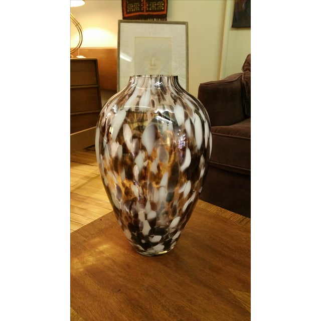 Polish Hand-Blown Art Glass Vase - Image 2 of 5