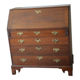 18th Century Chippendale Amphitheater Interior Mahogany Desk For Sale