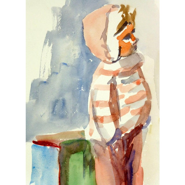 Vintage French Doll Watercolor Painting - Image 2 of 3