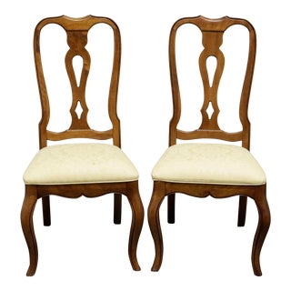 Ethan Allen French Country Dining Side Chairs - Pair 4 For Sale