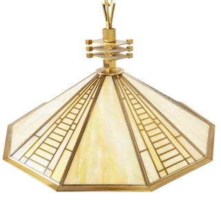 Fredrick Ramond Stained Glass Pendant Light For Sale