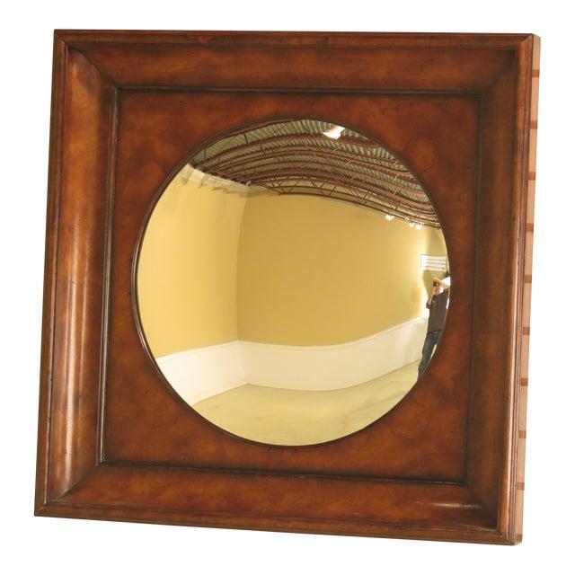 Theodore Alexander Square Walnut Mirror For Sale
