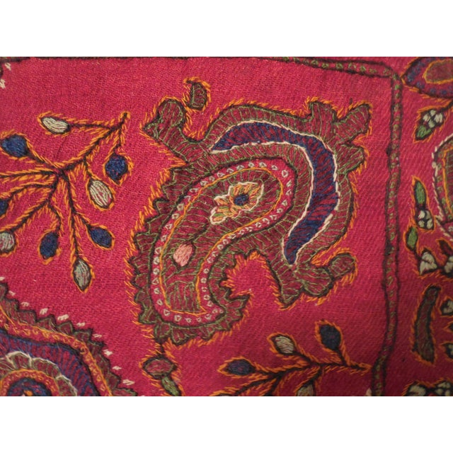 Hand Embroidery Antique Pillows - A Pair - Image 3 of 10