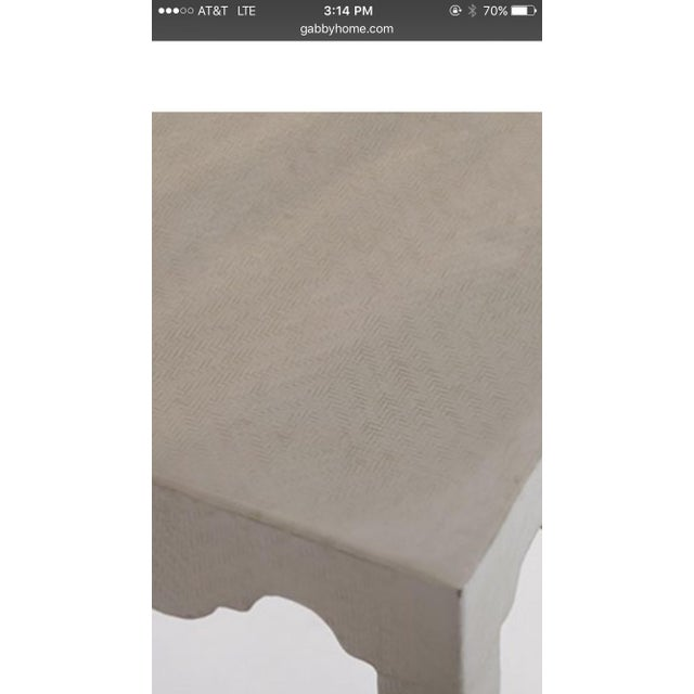 White White Lacquered Seagrass Coffee Side Table For Sale - Image 8 of 8