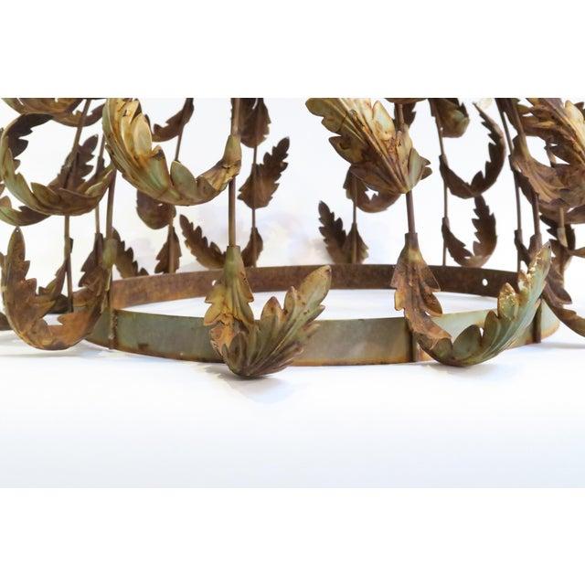 Vintage Metal Leaf Chandelier Frame - Image 4 of 6