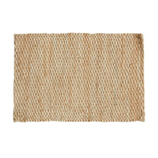 "Hand Braided Gold Entrance Mat - 2'2"" X 3'3"""