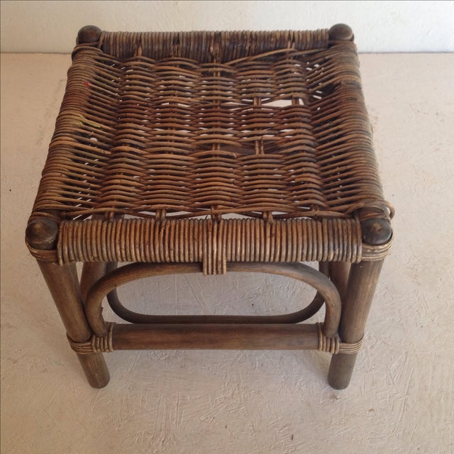 Cane & Wicker Stool - Image 3 of 4
