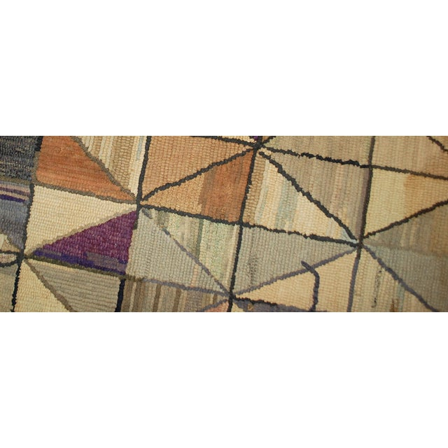 1880s Hand Made Antique Square American Hooked Rug - 2′ × 2′1″ For Sale In New York - Image 6 of 6
