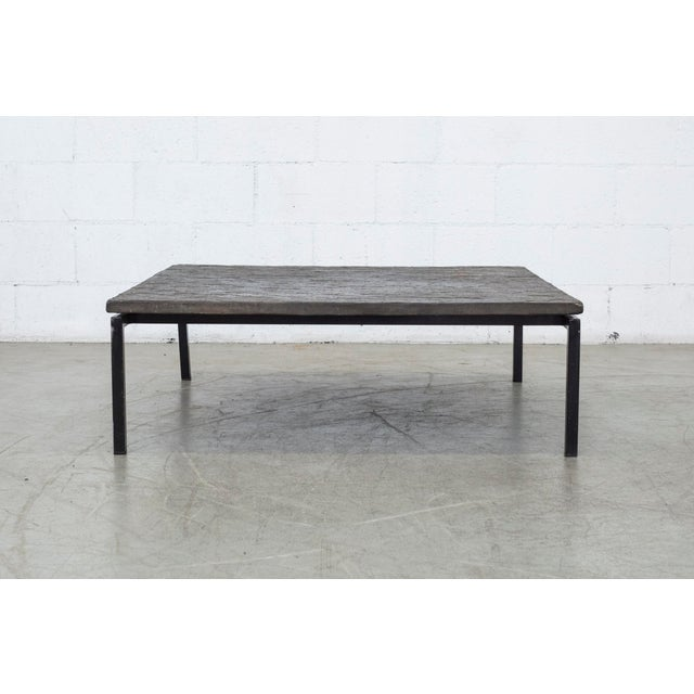 Square Stone Top Coffee Table - Image 2 of 9