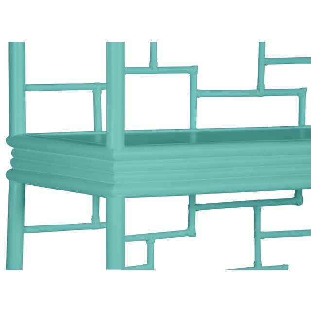 Tibet Etagere - Turquoise For Sale In West Palm - Image 6 of 7