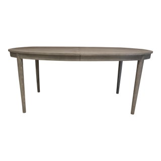 Gray Dining Room Table With Extension Leaf