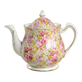 Royal Standard Virginia Stock Chintz Teapot & Lid For Sale
