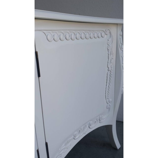 French Provincial Farmhouse Style White Buffet - Image 5 of 7
