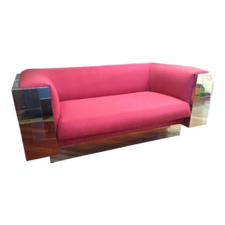 Paul Evans Chrome 'CityScape' Settee