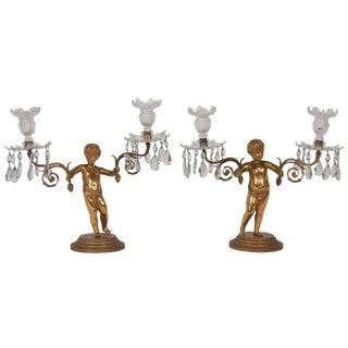 Pair of Regency Gilt Bronze Figural Candelabra by Matthew Boulton For Sale