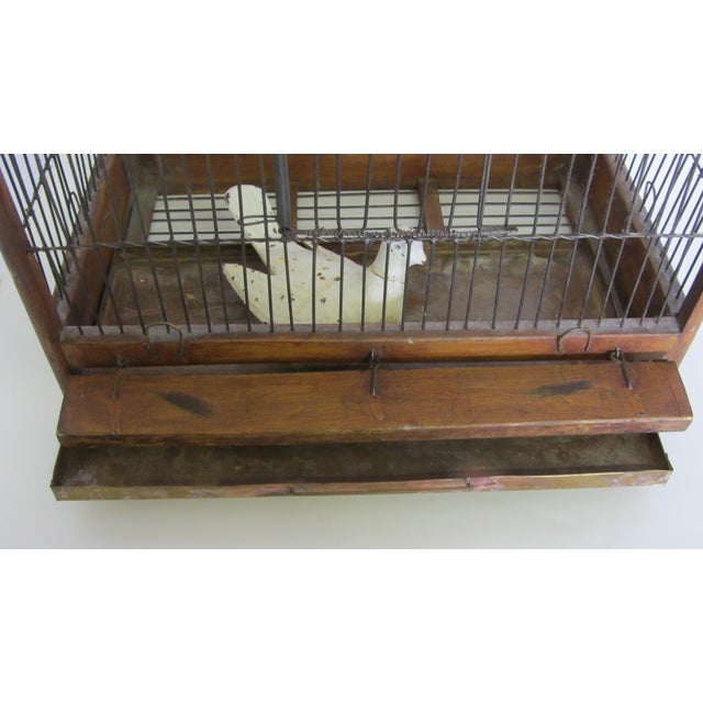 1880s Antique Wood & Wire Birdcage For Sale In San Diego - Image 6 of 7