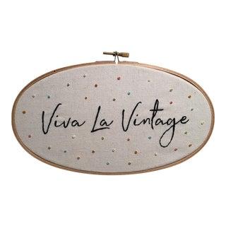 """""""Viva La Vintage"""" Embroidered Artwork"""
