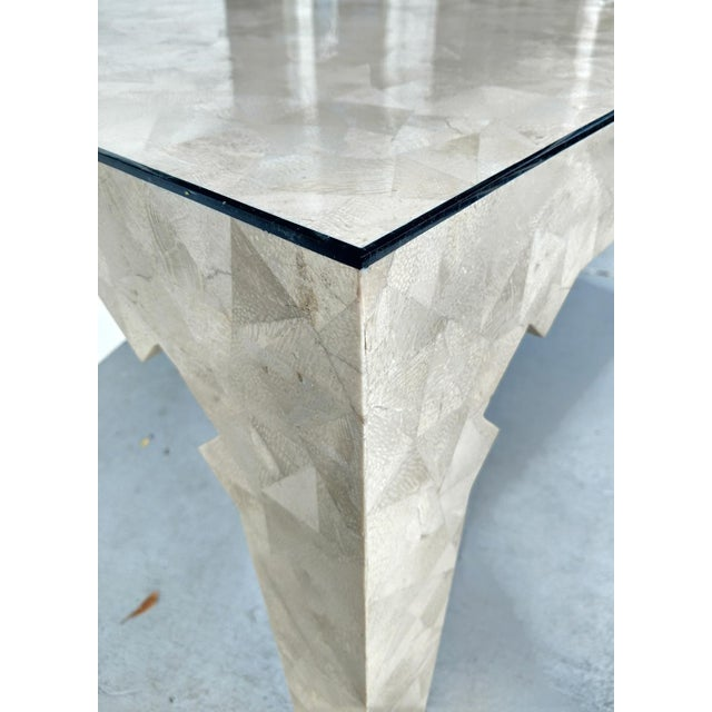 Stone Oggetti Tessellated Stone Table, Vintage For Sale - Image 7 of 10