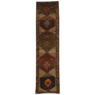 Vintage Turkish Oushak Runner with Modern Contemporary Style, Painted Oushak Rug