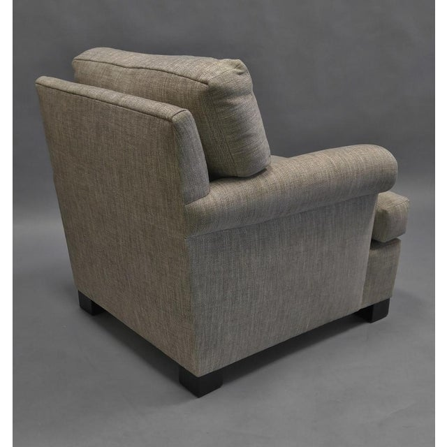 Contemporary Lounge Chair Upholstered in Colfax and Fowler Fabric For Sale - Image 3 of 8