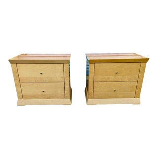 1980's Italian Blonde Nightstands - a Pair For Sale
