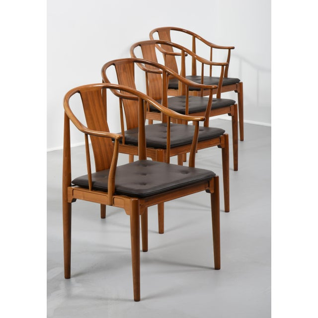 Hans J Wegner, set of four China chair, no 4283 Manufactured by Fritz Hansen in Copenhagen, Denmark, designed 1944 and...