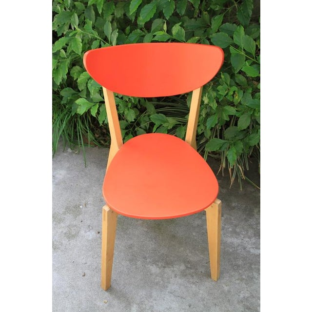 Mid Century Tangerine Chairs - Set of 3 - Image 8 of 8