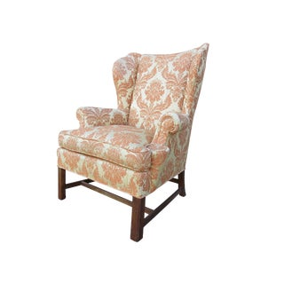 Vintage Baker Furniture Classic Georgian Style Wingback Chair For Sale