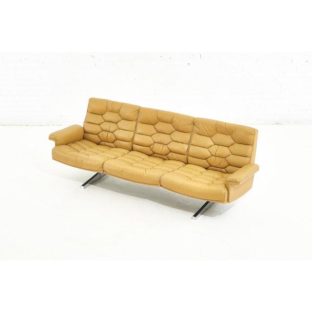 Mid-Century Modern De Sede Leather Ds-P Sofa by Robert Haussmann, Switzerland, 1970 For Sale - Image 3 of 9