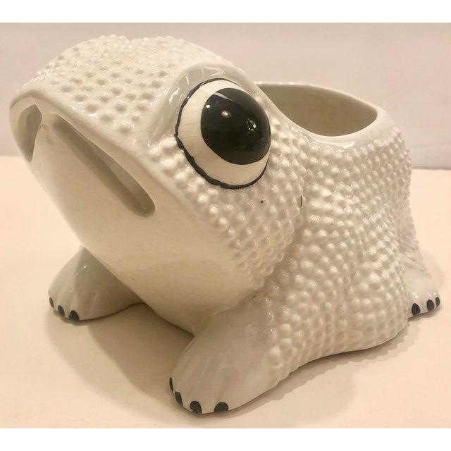 Italian Ceramic Frog Planter For Sale - Image 9 of 9