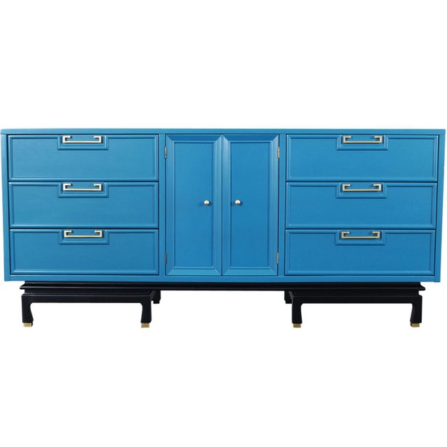 Vintage Lacquered Dresser by American of Martinsville For Sale - Image 9 of 9